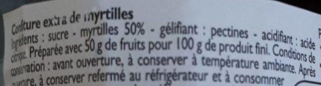Confiture de myrtille - Ingredients - fr