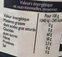 Confiture de myrtille - Nutrition facts - fr