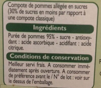 Compote Allégée de Pommes - Inhaltsstoffe - fr