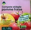 Compote allégée pomme fraise - Product