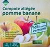 Compote allégée pomme banane - Produit