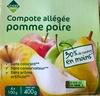 Compote allégée pomme poire - Product