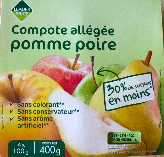 Compote allégée pomme poire - Product - fr
