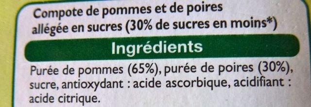 Compote allégée pomme poire - Ingredients - fr