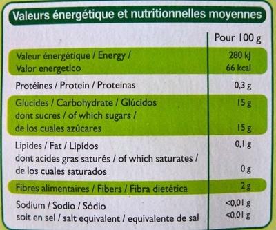 Compote allégée pomme poire - Nutrition facts - fr