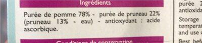 Puree de pommes pruneau - Product - fr