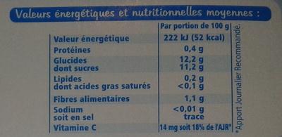 Fine ligne pomme fraise 400 g - Voedingswaarden - fr