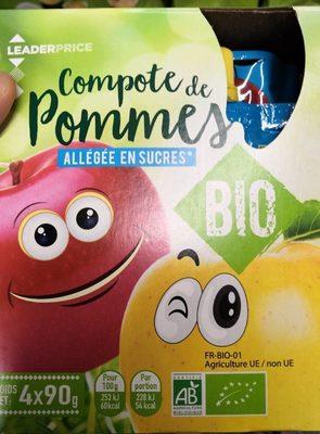 Compote de pommes bio - Product