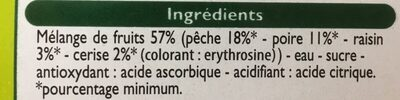 Coupelles de Fruits - Ingredients