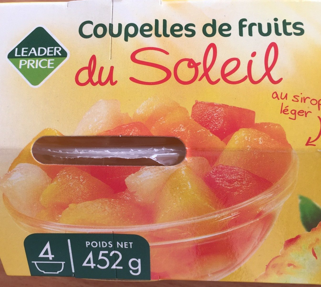 Coupelles de fruits du soleil - Product - fr