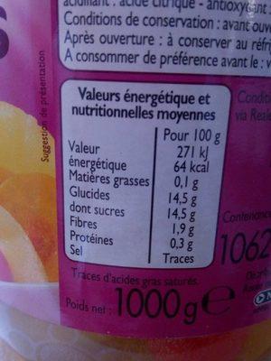 Macedoine De Fruits Au Sirop Léger - Informations nutritionnelles - fr