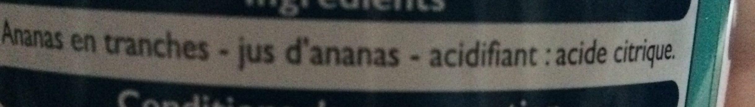 Ananas en tranches - Ingrédients - fr