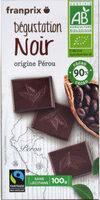 tablette degust choco noir 90%Perou équitable bio - Product - fr
