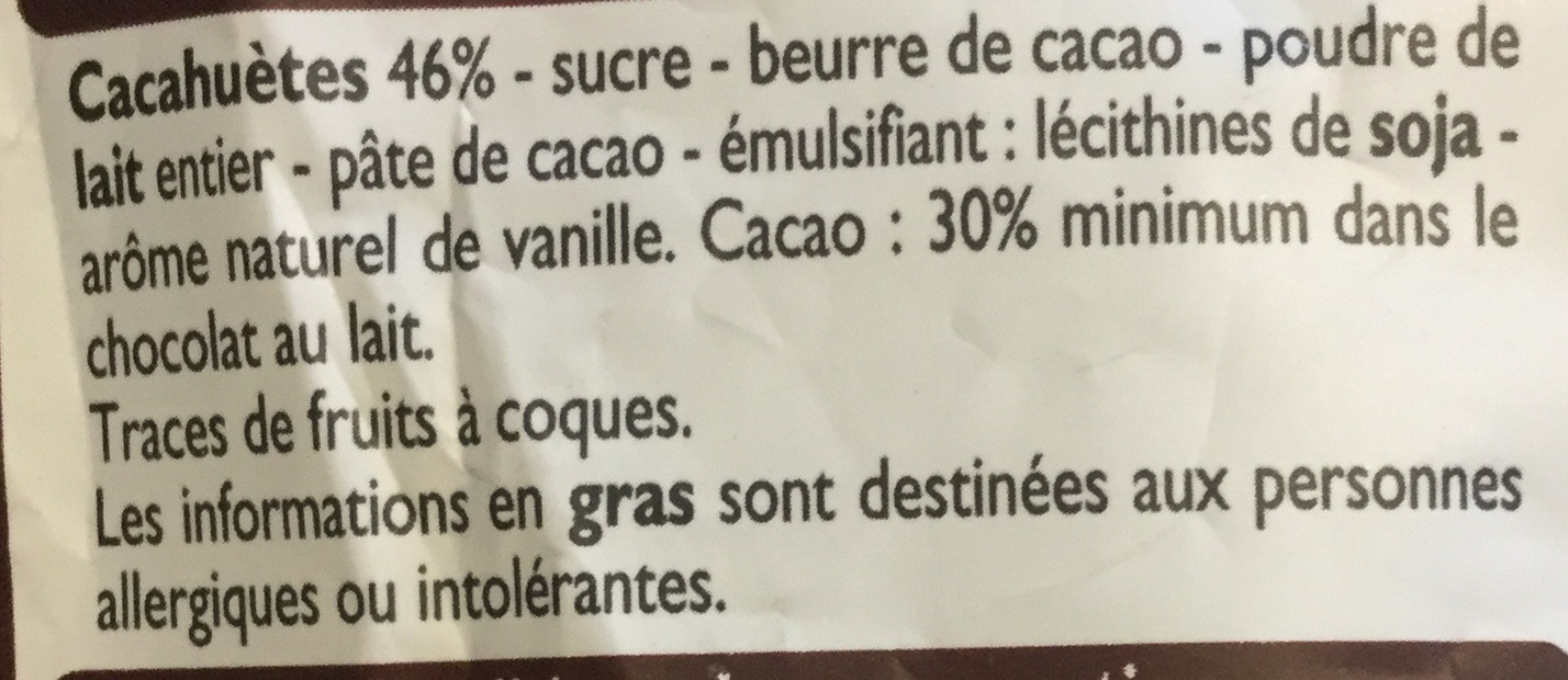 Mini croquants cacahuètes - Ingredients - fr