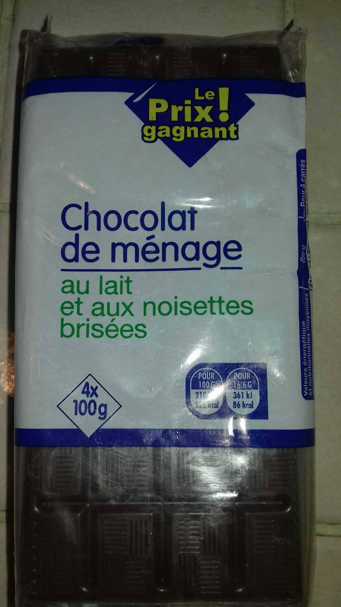 Chocolat de ménage - Product - fr