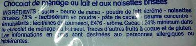 Chocolat de ménage - Ingrediënten - fr