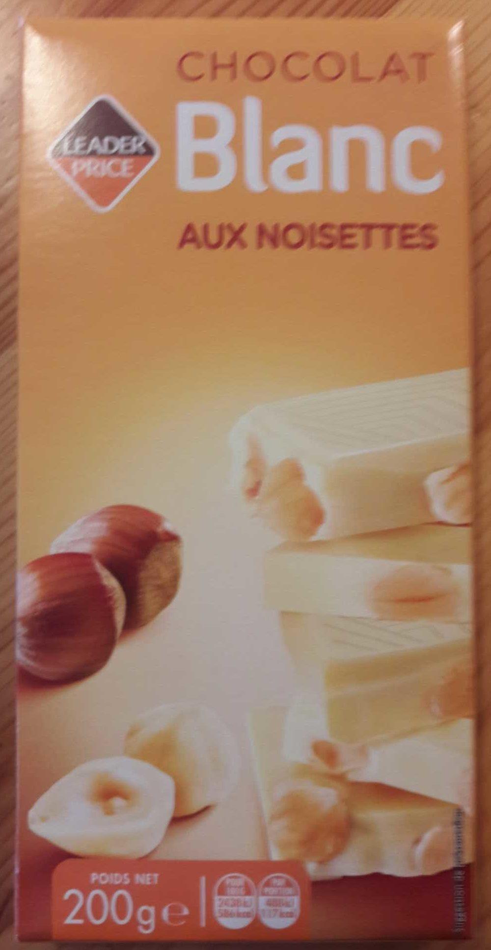 Chocolat Blanc aux Noisettes - Product