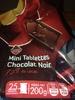 Mini tablettes chocolat noir - Produit