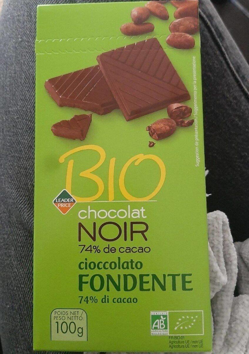 Chocolat noir 74% de cacao - Produit - fr