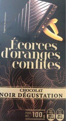 Chocolat noir dégustation ecorces d'orange - Product - fr