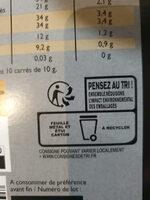 Chocolat noir dégustation ecorces d'orange - Recyclinginstructies en / of verpakkingsinformatie - fr