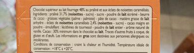 Chocolat au Lait Praliné et Noisettes - Ingrediënten - fr