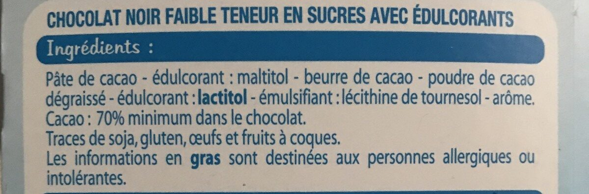 chocolat ligne - Ingrediënten - fr