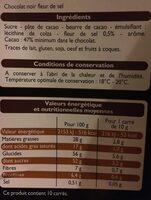 Chocolat noir dégustation fleur de sel - Ingrediënten