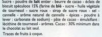 Chocolat au Lait aux Éclats de Speculoos - Ingrediënten - fr