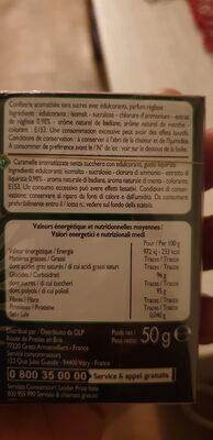 Bonbons goût réglisse sans sucres - Ingredients