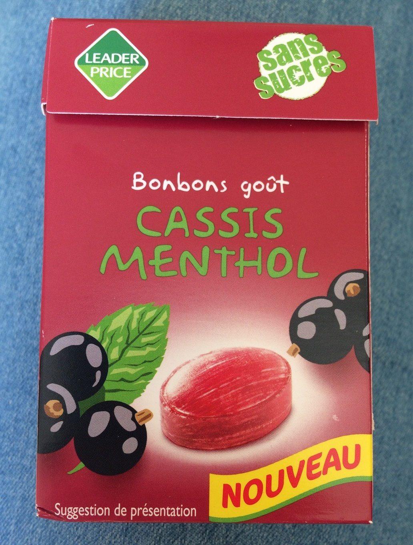Bonbons goût cassis menthol - Produit - fr