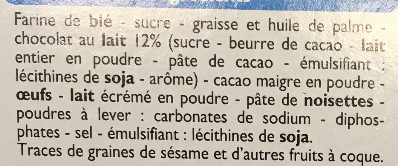 Crok'choco - Ingrédients - fr