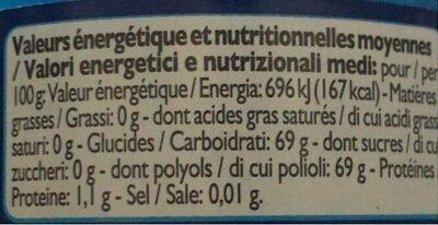 Dragées Coeur Liquide, 45 Dragees - Voedingswaarden - fr