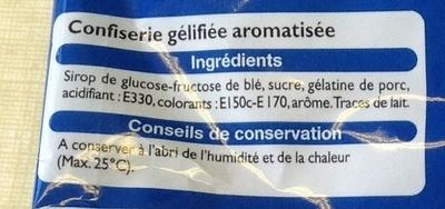 Colas - Ingrediënten - fr