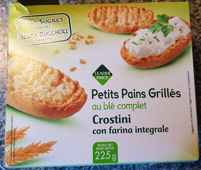 petits pains grillés au blé complet sans sucres ajoutés - Product - fr
