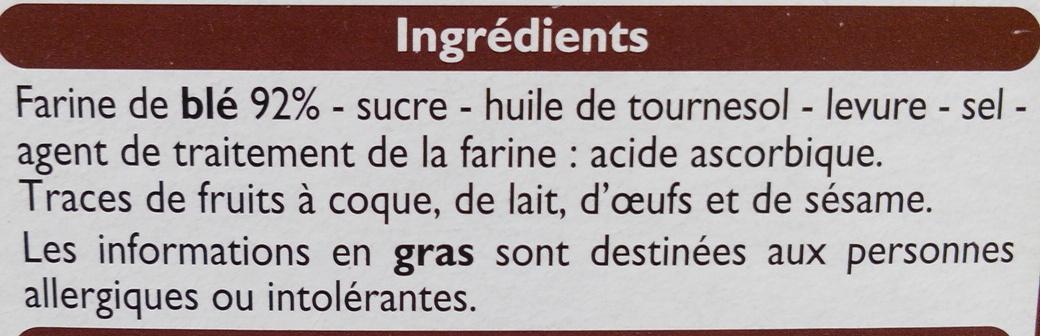 Pain grillé au froment - Ingrédients - fr