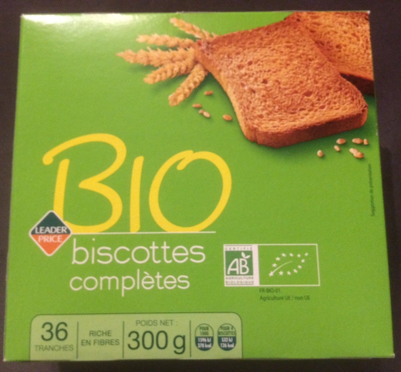 Biscottes complètes Bio - Produit - fr