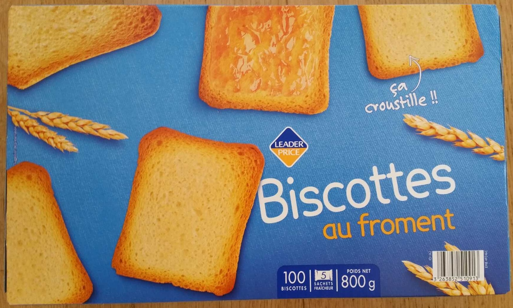Biscottes au froment - Producto