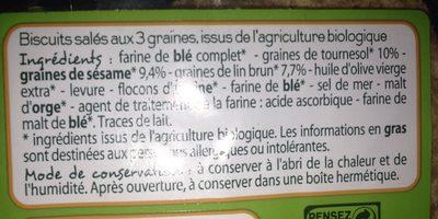 Crackers 3 graines - Ingrédients - fr