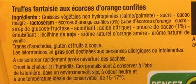 Truffes ecorces d'orange - Ingrediënten - fr