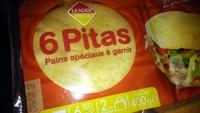 6 pitas pains spéciaux à garnir - Product - fr