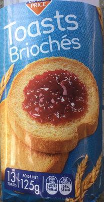 Toast briochés - Produit - fr