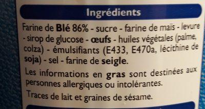 Toast briochés - Ingrédients - fr