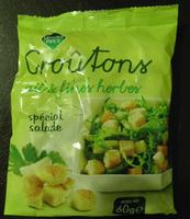 Croûtons goût ail et fines herbes spécial salade Leader price - Produit