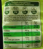 Croûtons goût ail et fines herbes spécial salade Leader price - Informations nutritionnelles