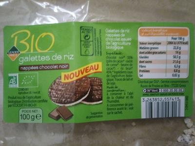 Galette de riz chocolat noir - Produit - fr