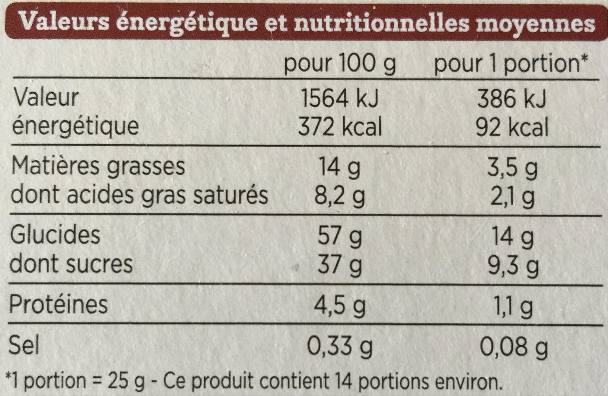 Cake aux Fruits pur beurre - Informations nutritionnelles - fr