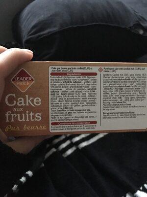 Cake aux fruits pur beurre - Ingrédients - fr