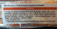 Mini tartelettes aux pommes - Ingrediënten - fr