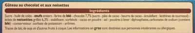 Brownie aux éclats de noisettes - Ingrédients